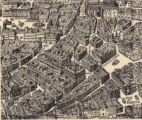 31.8 by 72.4 cm. (full sheet). Strada di Corte Savella runs left to right into the lower-left corner of Piazza del Duca (today Piazza Farnese).